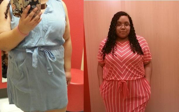 80f5b874a71 Left  Denim dress  I am wearing a 2X since the 1X was MIA