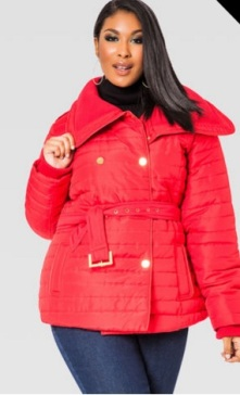 ashley stewart red coat