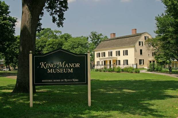 King Manor and Sign