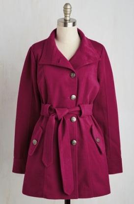 modcloth fuchsia coat