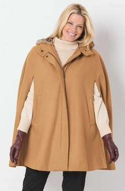 woman within cape coat