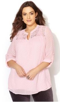 Avenue pink blouse