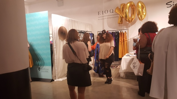 GabiFresh at the ELOQUII booth. Didn't get a chance to meet her as so many people were lining up to do so, but I hope we cross paths again.