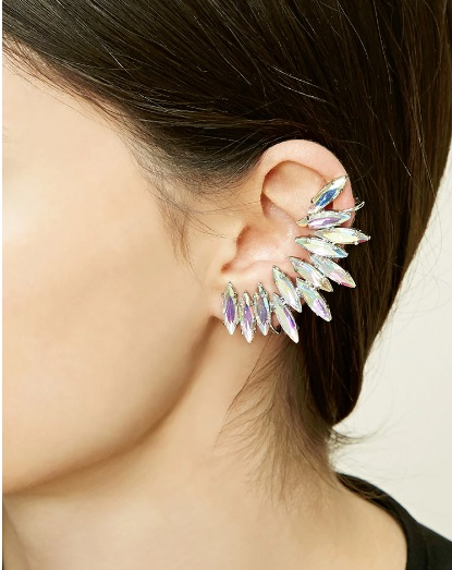 Faux Gem Ear Cuff