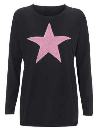 star-applique-sweater